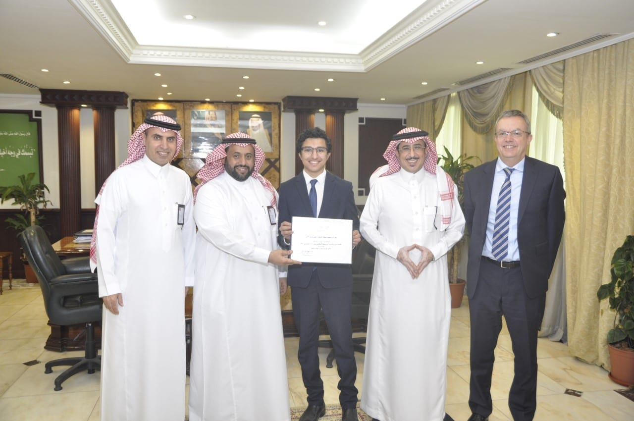 Awarding the student Faris Alyousef